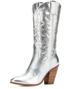Miranda Lambert Silver Cowboy Boots