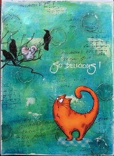 Hello everyone,   Today I have made an art journal for my DT post over at Katzelkraft . I have used some of the new stamps for this and it w...