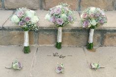 Bridesmaids bouquets and groomsmen buttonholes - Floral Design  by www.pinkenergyfloraldesign.co.za Bridesmaid Bouquet, Bridal Bouquets, Bridesmaids, Groomsmen Buttonholes, Floral Design, Floral Wreath, Wreaths, Pink, Decor