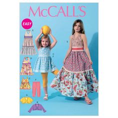 Children's/Girls' Unlined Jackets, Top, Dresses and Leggings-CHJ (7-8-10-12-14) Pattern at Joann.com
