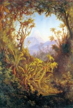 Albert Berg. El volcán del Tolima.