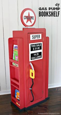 Ana White | Build a HOW TO: Build a Vintage Gas Pump Cabinet with Side Bookshelves | Free and Easy DIY Project and Furniture Plans