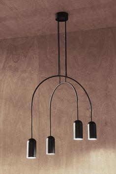 BOW suspension x4| lamp collection designed by david dolcini STUDIO for tossB #tossB #lamp #lighting #totalblack #metal #minimal #design #daviddolcini #daviddolcinistudio