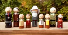 lord of the rings peg doll set