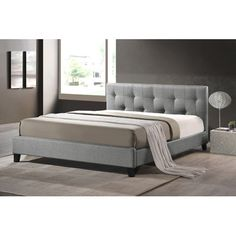 Found it at Joss & Main - Alisa Upholstered Platform Bed. Queen: $330