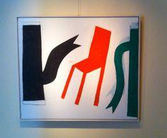 Klaas Gubbels, prachtig doek uit de serie Baselitz in Soestdijk.