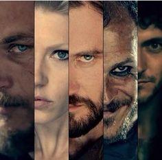 Vikings - Ragnar, Lagertha, Rollo, Floki, Aethelstan