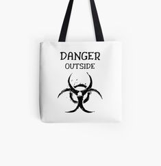 DANGER outside !! Get yourself a unique cool  custom desing from RIVEofficial Redbubble shop : )).... tags: #coronavirus #corona #COVID #disease #lockdown #danger #dangeroutside #stayhome #washhands #blackandwhite #corona2020 #keepcalm #isolation #findyourthing #shirtsonline #trends #riveofficial #favouriteshirts #art #style #design #shopping #redbubble #digitalart #design #fashion #phonecases #customproducts #onlineshopping #accessories #shoponline #onlinestore #shoppingonline Cotton Tote Bags, Reusable Tote Bags, Online Shopping, The Outsiders, Unique Gifts, Custom Design, Pouch, Stuff To Buy, Net Shopping