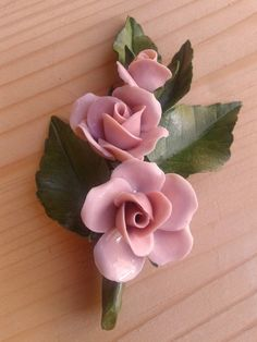 Polymer Clay Projects, Polymer Clay Crafts, Polymer Clay Jewelry, Polymer Clay Flowers, Ceramic Flowers, Fondant Flowers, Sugar Flowers, Pasta Art, Cerámica Ideas