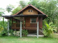 Bamboo House Design, Tropical House Design, Simple House Design, Hut House, Tiny House Cabin, Cottage Style House Plans, Bungalow House Design, Philippines House Design, Cool Tree Houses