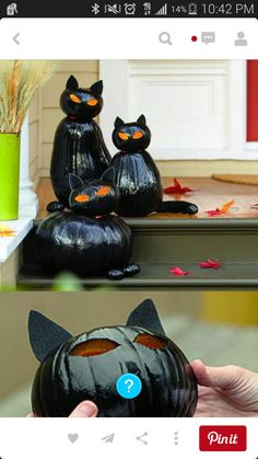 10 EASY Fall And Halloween Decorating Ideas Painted Pumpkins Turned Into Cats For The Front Porch Love Could Use Dollar Store Decoration