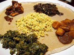 Mesob Veggie Sampler - Mesob Ethiopian Restaurant - Montclair - New Jersey - Dianne Wenz - Devil Gourmet - www.DevilGourmet.com