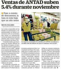 Ventas de ANTAD suben 5.4% durante noviembre