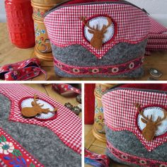 Right from THE ALPS: Tyrollean Make-up bag. By Handwerkjuffie.nl
