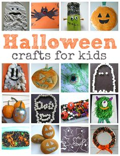 Halloween crafts for kids . So many easy ideas for little ones.