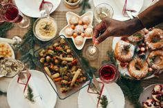 Top-down photo of a lavish dinner by  seventyfourimages on Envato Elements