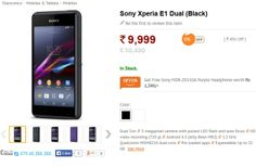 Just a few days ago, Sony Mobile announced that the Xperia E1 and Xperia E1 Dual smartphones will now be available in India. For those who are interested in purchasing one of the two versions of the Xperia E1, they are available in black and in white colors, and at a great price of $164. This price is lower than Sony has announced for the Xperia E1... Read more at http://www.hitechtop.com/sony-xperia-e1-dual-sim-is-now-available-in-india/#jTimhQ7b4U52OIJy.99