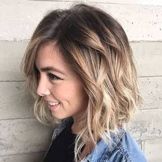 Spring Hairstyles Medium Hairstyles for Winter-Spring 2018 Brunette to Blonde Ombre Wavy Bob Hairstyles, Spring Hairstyles, Trendy Hairstyles, Bob Haircuts, Ladies Hairstyles, Hairstyles 2018, Hairstyles Pictures, Beautiful Hairstyles, Brown Blonde Hair