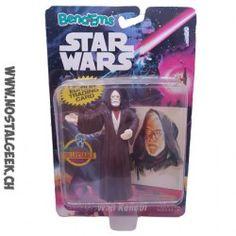 Star Wars Obi Wan Kenobi Bend Ems Figure w/Topps Card Justoys 1993 MOC