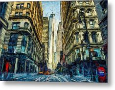 New York Metal Print by Galeria Trompiz. All metal prints are professionally printed, packaged, and shipped within 3 - 4 business days and delivered ready-to-hang on your wall. New York Street Art, Abstract Styles, Buy Prints, New Media, Abstract Expressionism, Fine Art Paper, Fine Art America, Saatchi Art, Poster Prints