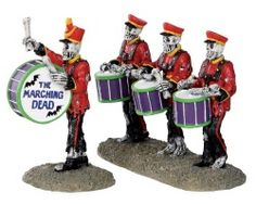 Lemax Spooky Town Drum Corpse Set of 2 # 32101