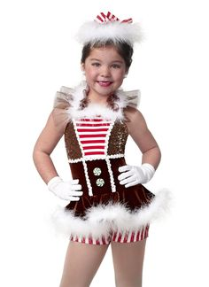 Your little ones will look sweet enough to eat for holiday performances in outfits like this gingerbread girl one-piece by Curtain Call! #FashionFriday