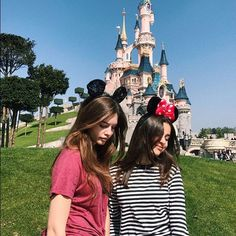 Thylane Blondeau and her friend