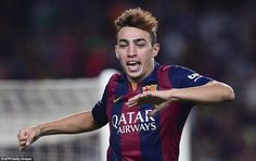 Moroccan Munir El Haddadi First official game with #FCB  First appearance, First Goal...
