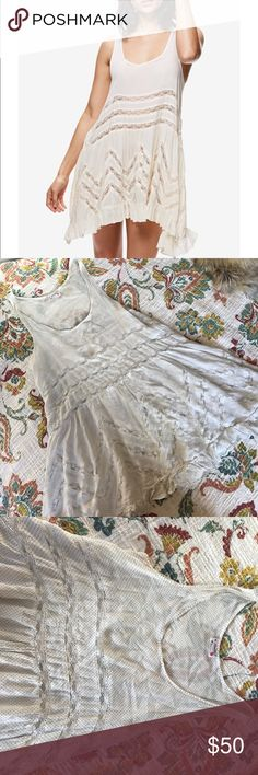 Free People Trapeze Slip Free People • Trapeze Slip • White with grey polka dots • In perfect condition • Size small Free People Intimates & Sleepwear Chemises & Slips