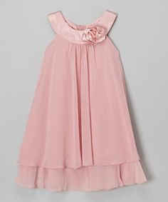 Kid's Dream Pink Flower Yoke Dress - Toddler & Girls by Kid's DreamPink Flower Yoke Dress: I think I would get this just for pictures, but also because its adorbs. The potential for ridic-pics is ENDLESS!Take a look at this Pink Flower Yoke Dress on Pink Dresses For Kids, Cute Outfits For Kids, Toddler Girl Dresses, Simple Dresses, Girls Dresses, Flower Girl Dresses, Toddler Girls, Girl Fashion, Fashion Dresses