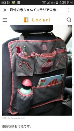 35 Ideas Cars Organization Diy Sewing For 2019 Fabric Crafts, Sewing Crafts, Sewing Projects, Diy Projects, Sewing For Kids, Baby Sewing, Couture Bb, Car Seat Organizer, Car Organizers