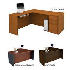 desk Office Furniture Stores, Furniture Deals, L Shaped Desk, The Prestige, Pedestal, Desks, Storage Spaces, Home Goods, Modern Design