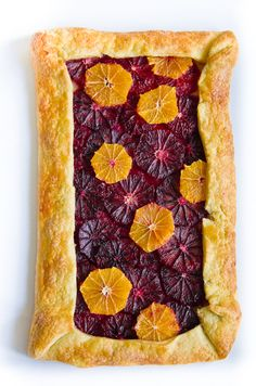 Blood Orange & Clementine Galette: Beautiful! #Blood_Orange #Clementine