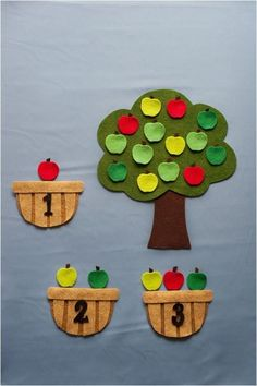 Antonio saved to badezimmerApple Counting Felt Story Board Set, Farm Flannel Board Stories, Felt Toddler Preschool Educational Learning Activity, Autumn F… Toddler Learning, Preschool Learning, Toddler Preschool, Toddler Activities, Learning Activities, Preschool Activities, Teaching, Flannel Board Stories, Felt Board Stories