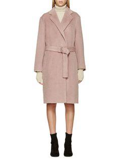 Pink Mohair Coat