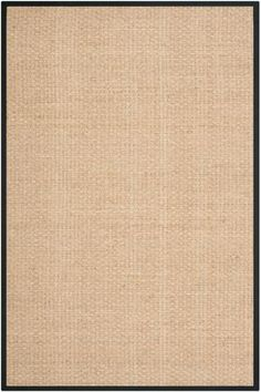 Safavieh NF114C Natural Fiber Natural and Black Power Loomed Sisal and Seagrass 2 1/2 x 8 Home Decor Rugs Rugs
