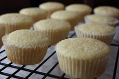 Homemade Vanilla Cupcakes with Chocolate Frosting…YUM!