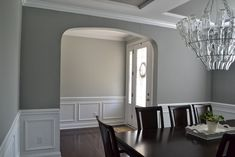 Sherwin Williams Gray Matters - YEP this is the color we are doing in the house. A beautiful true gray. Love everything about this room. Room, House, Interior, Home, Paint Colors For Home, Interior Paint Colors Schemes, Room Colors, House Colors, Grey Paint