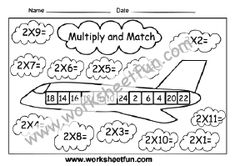 Free Printable Multiplication Worksheets, Repeated Addition Multiplication, Kindergarten Worksheets, 10 Times Table, Times Table Chart, Word Problems, Free Printables, Free Printable