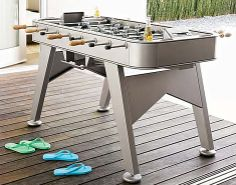 All-Weather Foosball Table - Foosball Table - Ideas of Foosball Table - All-Weather Foosball Table Outdoor Foosball Table, Outdoor Tables, Architectural Digest Show, Table Games, Game Tables, Table Football, Backyard Games, Backyard Ideas, Dinning Table
