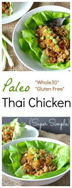 Paleo Thai Chicken- loaded with flavor, made in 20 minutes, and so easy! Whole30 and gluten free.