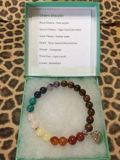 Chakra Bracelet 7 Chakra Bracelet Meditation by JewelrybyJAM