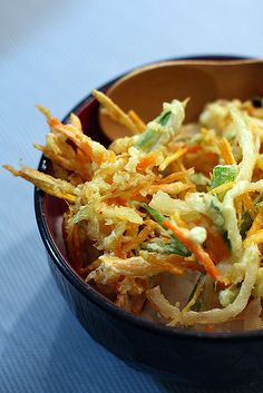 Kakiage don - Vegetable tempura over rice