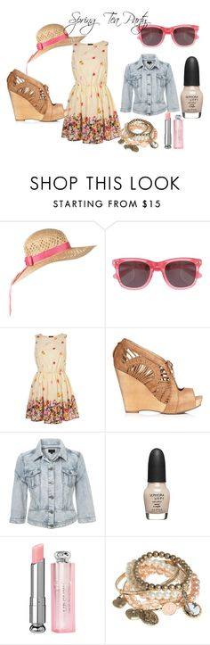 """Spring Tea Party"" by macbarbie07 ❤ liked on Polyvore featuring Jack Wills, Sam Edelman, Sephora Collection, Christian Dior, Red Herring and macbarbie07 bethany spring fashion trends tea party dress floral pink girly"