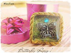 Sale 10% Butterfly Ring 1 Gift for her Fantasy por FamDdaear
