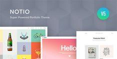 Notio - Creative Portfolio WordPress Theme Wordpress Template, Tema Wordpress, Best Portfolio Wordpress Themes, Premium Wordpress Themes, Text Animation, E Commerce, Web Design, Theme Template, Ecommerce