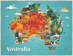 Adobe Illustrator & Photoshop tutorial: Create a vector map collage… Adobe Illustrator Tutorials, Photoshop Illustrator, Map Collage, Illustration Art Nouveau, Art Watercolor, Australia Map, Affinity Designer, Map Vector, Map Design