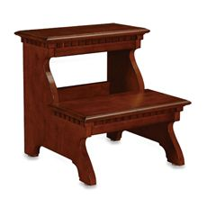 """Powell """"Warm Cherry"""" Bed Steps - Click pics for price Powell Furniture, Bedroom Furniture, Victorian Bed, Bed Steps, Diy Stool, Wooden Steps, Small Woodworking Projects, Diy Cabinets, Cool Beds"""