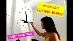 DIY: How to Paint Minimalist Flying Birds (seagulls) in a Living Room - Speed Mural Painting Mural Painting, Mural Art, Flying Birds, Speed Paint, Painting Process, Acrylic Colors, Art Projects, Minimalist, Make It Yourself