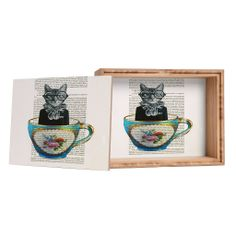 Buy a Medium Jewelry Box, get a Small Jewelry Box FREE 12/11/13 only! #handcrafted #madeinamerica Coco de Paris Cat In A Cup Jewelry Box
